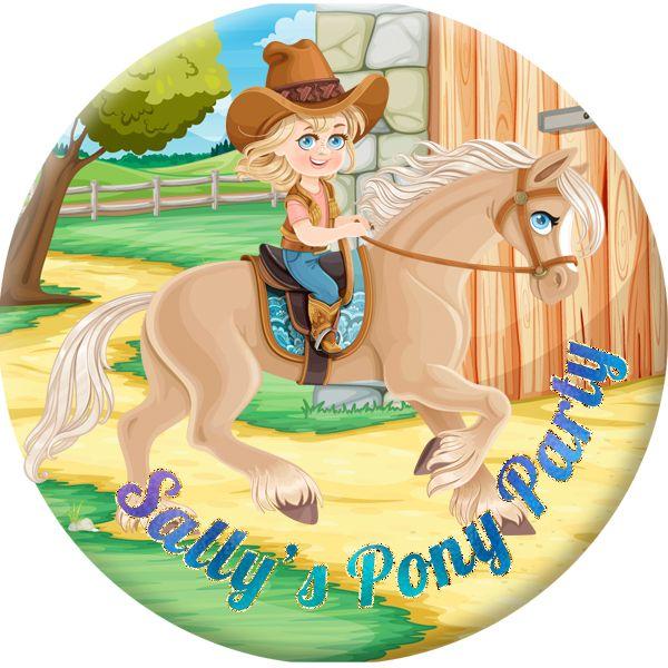 Horse / Pony Personalised Birthday Party Badge #920