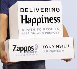 """""""Delivering Happiness"""" is een boek geschreven door Tony Hsieh, CEO van ZAPPOS. ZAPPOS is één van die bedrijven die een afwijkend businessmodel hanteren. Zo is 'Plezier' hier het kernwoord of, sterker nog, de Missie! Een intro op het boek en een blik op de kernwaarden van Tony c.q. ZAPPOS lees je in de entry. (klik op de pin)."""