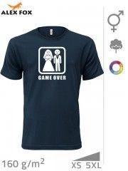 Svatební tričko 101 unisex ,Game Over