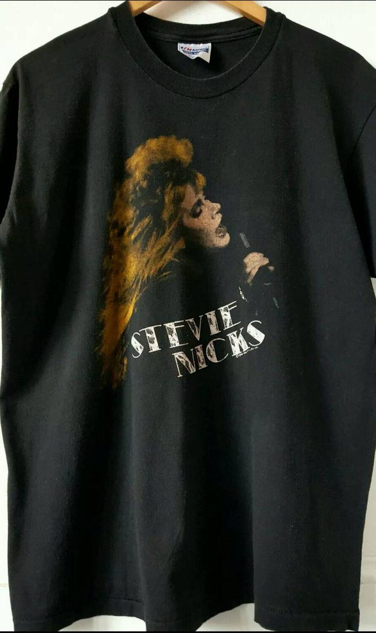 Black sabbath t shirt etsy - Stevie Nicks Shirt 80s Band T Shirt Concert Tee Large