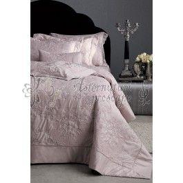 Valeron Farrah lila v2 - Set cuvertura de pat de lux din bumbac egiptean 2 persoane