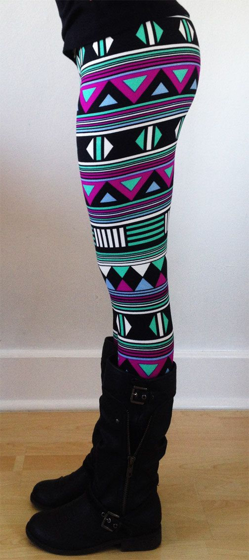 Women leggings Flower Leggings Colorful Leggings by JillNicoleCo