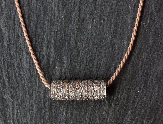 Pavé Diamond Bar Necklace