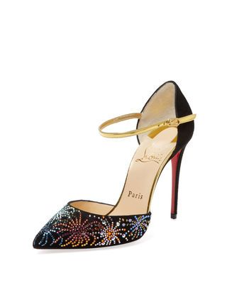 Embellished Suede Two-Piece Pump by Christian Louboutin at Gilt