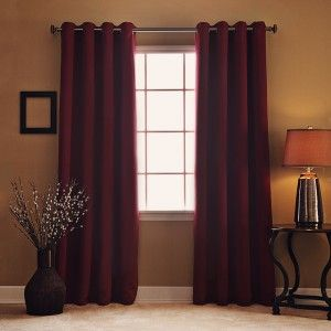 Beautiful Burgundy Insulated Curtains Design