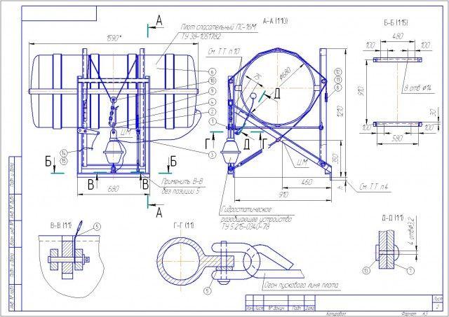 инструкция по спуску спасательного плота псн-20