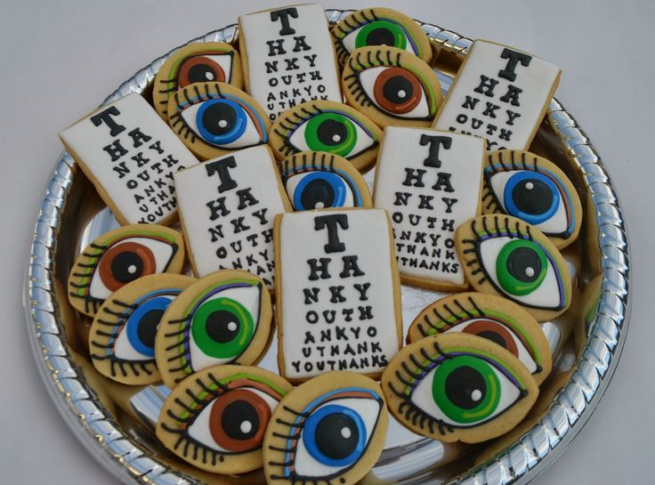 Optometrist Themed Decorated Sugar Cookies