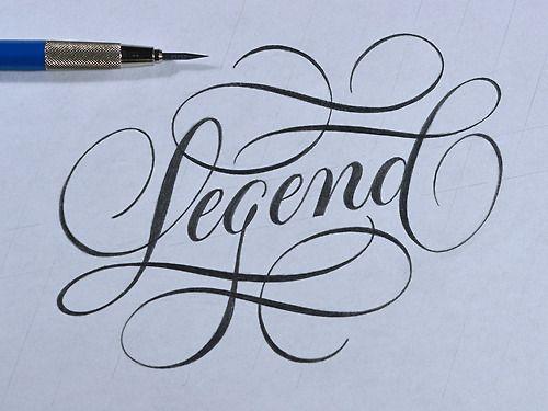 Typeverything.com - Legend Sketch By Ryan Hamrick #typography