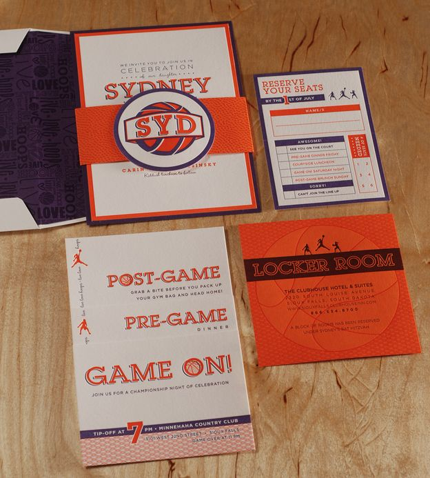 Awesome Bar Mitzvah invitation suite.... Spark Letterpress
