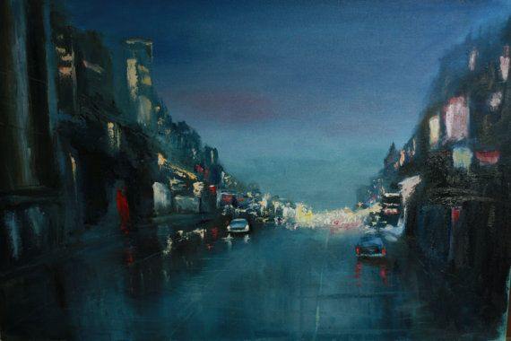 Oil Painting City life 2 от TimanovArt на Etsy