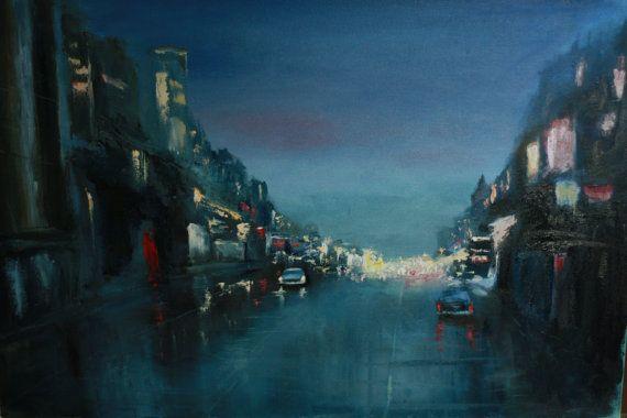 Oil Painting City life 2 от TimanovArt на Etsy