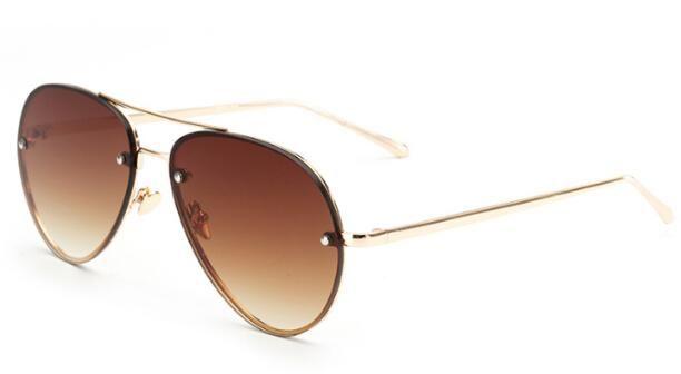 Peekaboo cheap fashion ocean sunglasses tinted lens yellow pink metal frame sunglasses women men UV400 gafas de sol