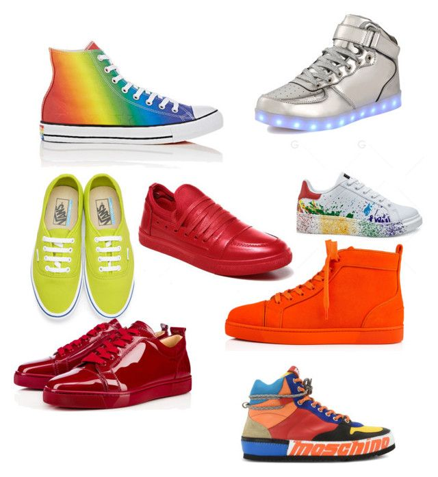 """Everybody would look at you,if you wear these shoes.  👞👟"" by inessophiefromaustria on Polyvore featuring Converse, Vans, Moschino, Christian Louboutin, men's fashion and menswear"