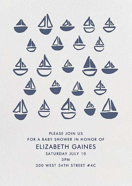 Floating Sails By Linda And Harriett For Paperless Post. Design Custom Baby  Shower Invitations With