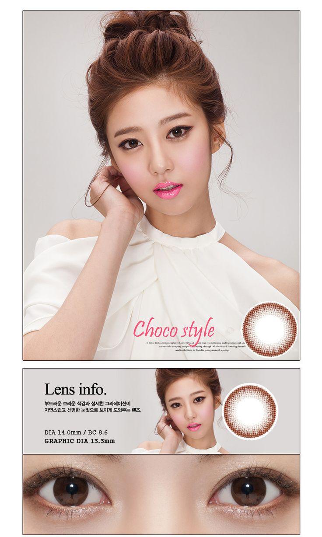Korean Style Cosmetic Colored Prescription Contact Lenses Choco Chocolate I