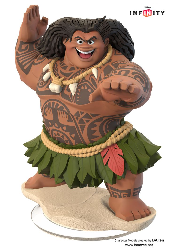 Maui from Moana: Disney Infinity, B Allen on ArtStation at https://www.artstation.com/artwork/zokDD