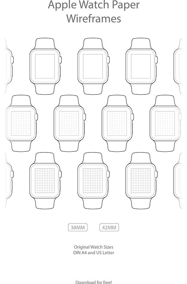 Apple Watch Paper Wireframes on Behance