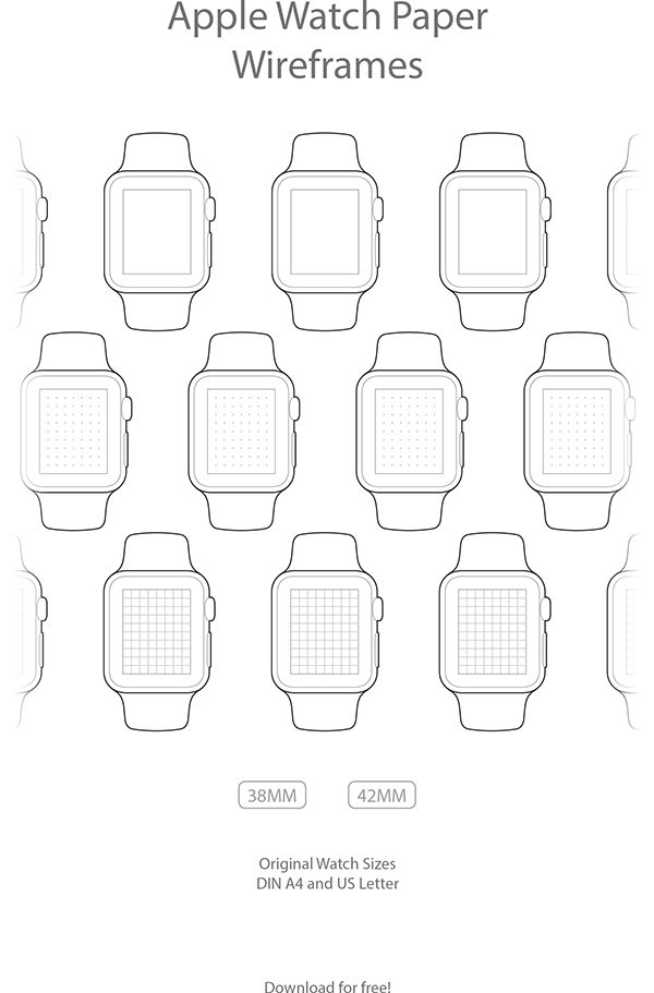 Apple Watch Paper Wireframes on Behance