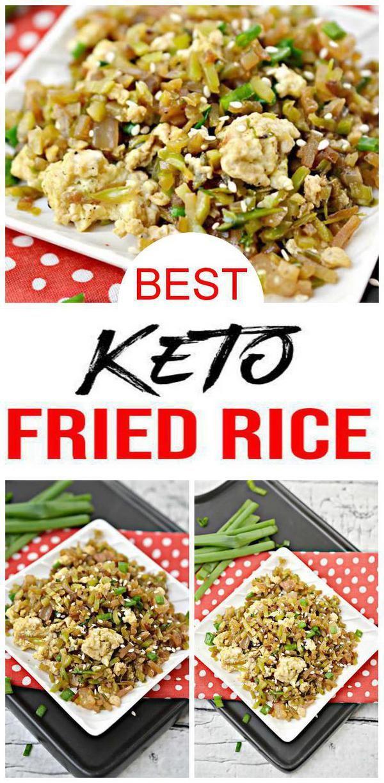 Keto Fried Rice – FÁCIL Receta de arroz frito bajo en carbohidratos – BEST Keto Friendly Chine …