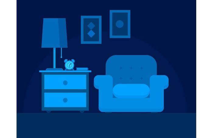 Living Room Night Time Scene – Free Adobe Illustrator Tutorial