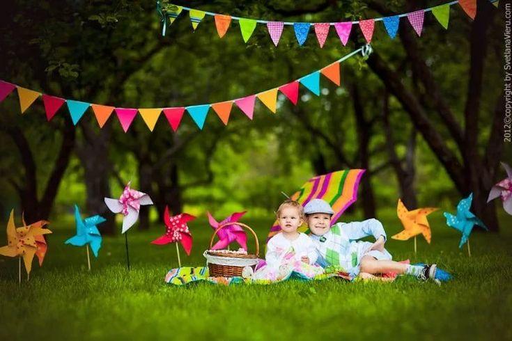 день рождения дочке 2 года на природе рисунком дшб