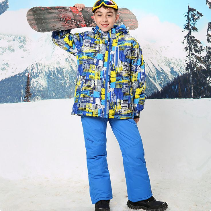 2016 Childen Cheap Ski Suit Snowboarding Suits Boys Ski Suit Kids Clothes Camping Outdoor Sport Jacket And Pant  For 3T To 16T