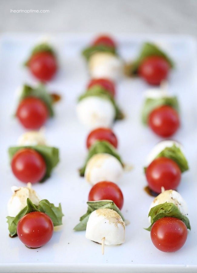 Caprese Kabobs, 25 Best Appetizers to Serve via A Blissful Nest