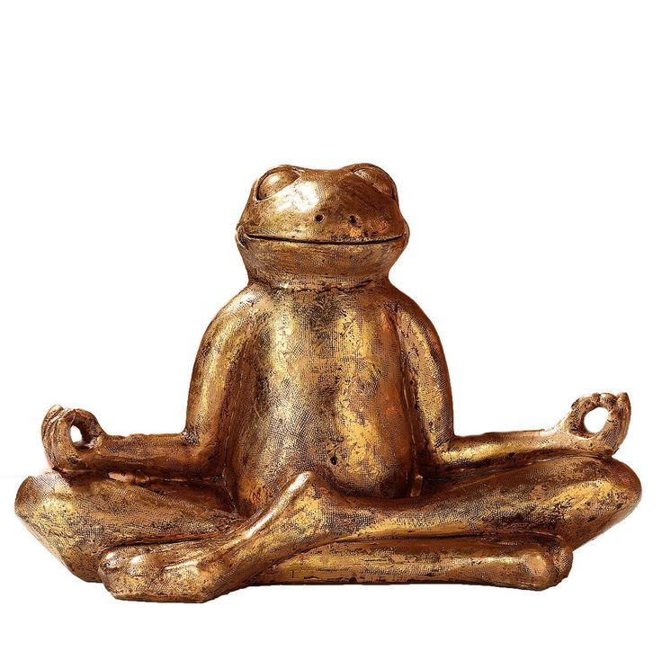 PAJOMA 48410B Yoga Frog Figurine Relax, Plastic, gold, 29.5 x 14.5 x 20.5 cm *** More info could be found at the image url. #GardenStorageandHousing
