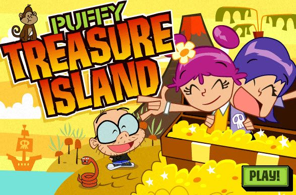 Play #Puffy Treasure Island. You must collect all the treasure while battling pirates, and other creatures.