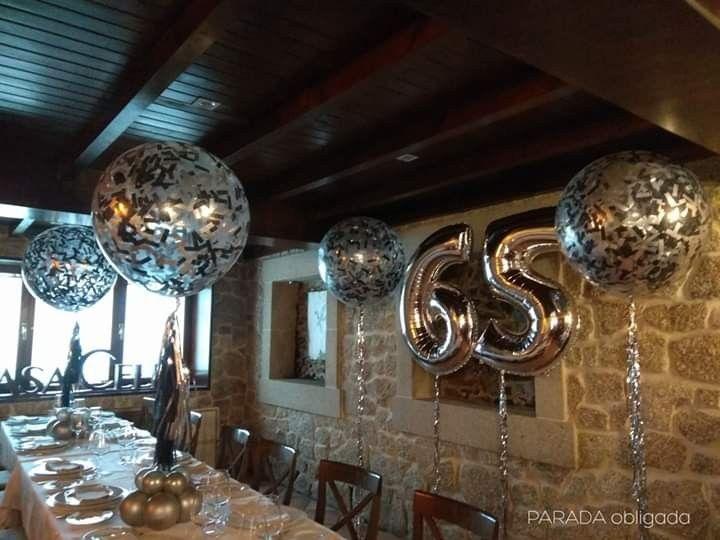 Decoración Para Cumpleaños Adulto Con Globos De Números Y