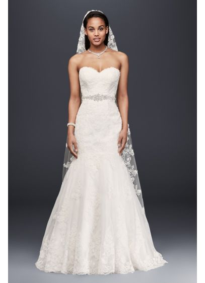 Petite Strapless Wedding Dress with Beaded Sash 7V3680