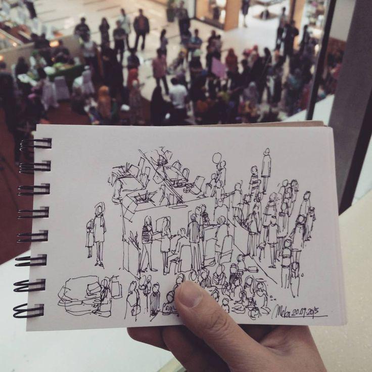 crowd #mekaworks #urbansketch