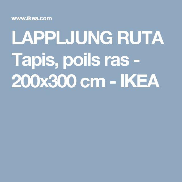 LAPPLJUNG RUTA Tapis, poils ras - 200x300 cm  - IKEA