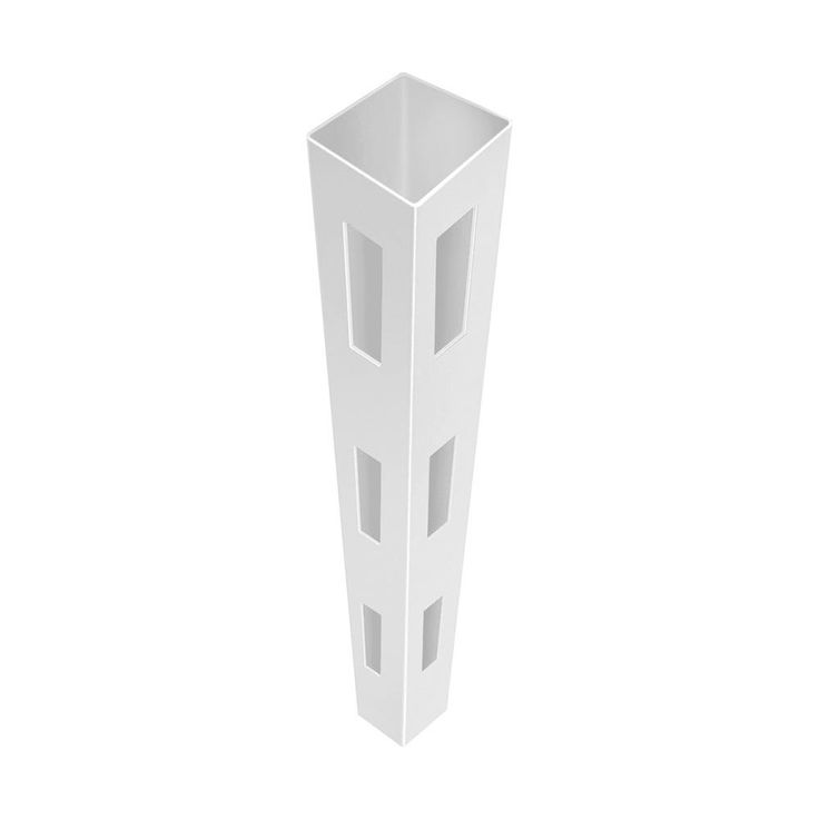 5 in. x 5 in. x 7 ft. 3-Hole White Vinyl Fence Corner Post