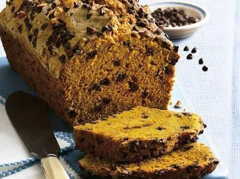 Chocolate Chip Pumpkin Bread....I just LOVE pumpkin bread with the mini chocolate chips.