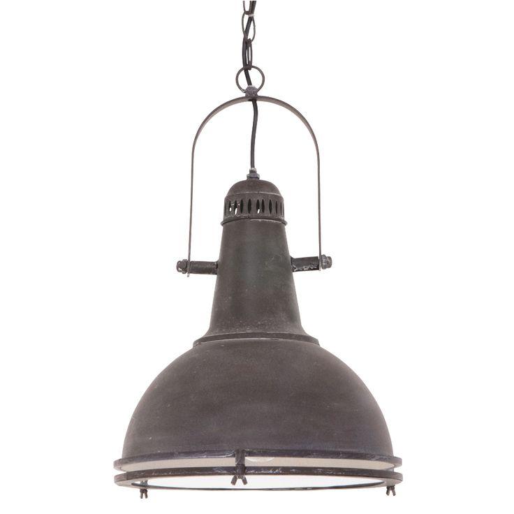 Mooie vorm hanglamp met veel industriele kenmerken en hij hangt aan een ketting. ✓ Gratis verzending ✓ Snelle levering ✓ Keurmerk ✓ Garantie
