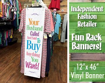 "IFR LLR Just Fun Vinyl Banner ""Your Husband Called..."" - jfb05"