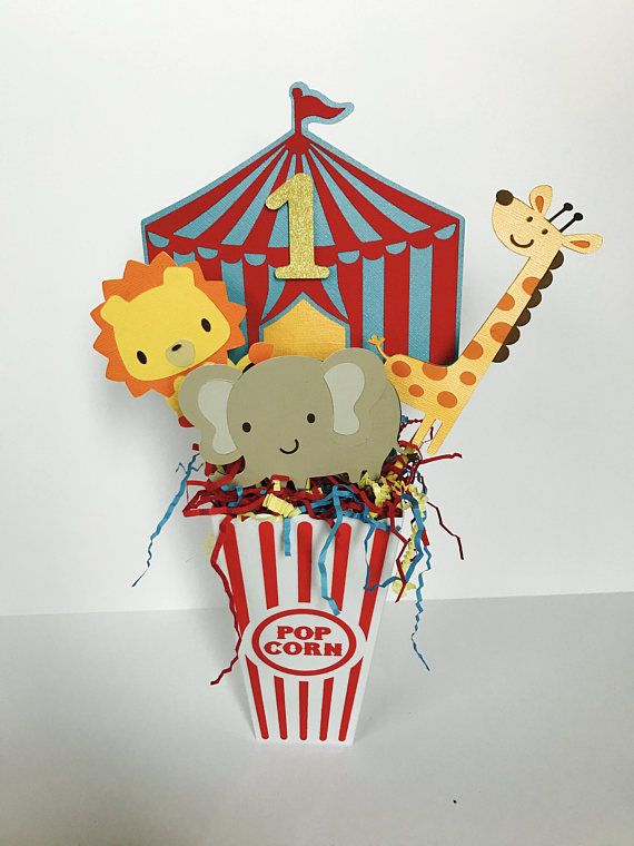 Circus Party Centerpiece Carnival Birthday Centerpiece