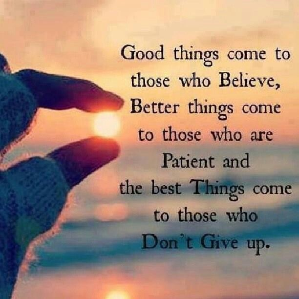 Good things come to....