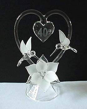 Custom Made Anniversary Cake Toppers By Stellar Glass 40th CakesWedding