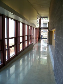 Polished Concrete Outshines Other Flooring Options - Stone-polishing techniques and mineralizing treatments are turning concrete into one of the most functional, most cost-effective, and greenest flooring options around. In this feature article, we explore the ups and downs of polished, densified concrete.
