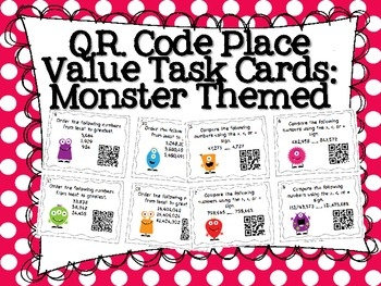 99 best number sense strand images on pinterest teaching ideas place value qr code task cards fandeluxe Gallery