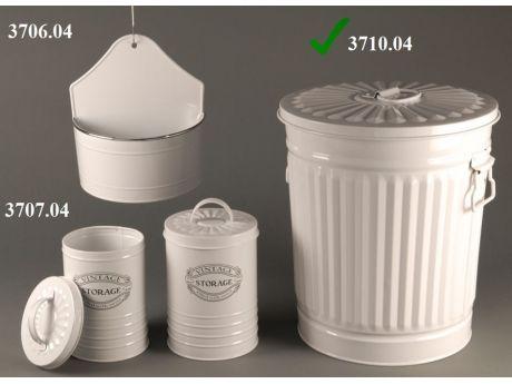 Cos de gunoi cu capac alb 30x31 cm