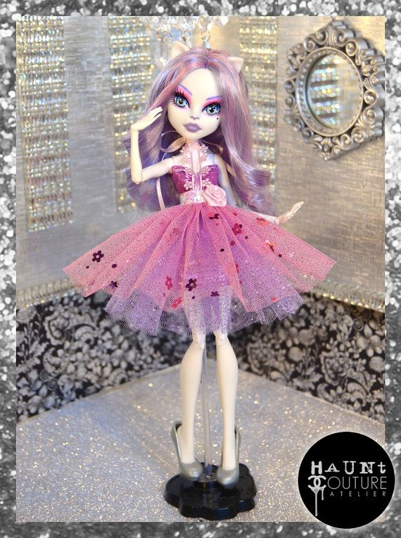 Monster Doll Fierce in Floral high fashion by HauntCoutureAtelier
