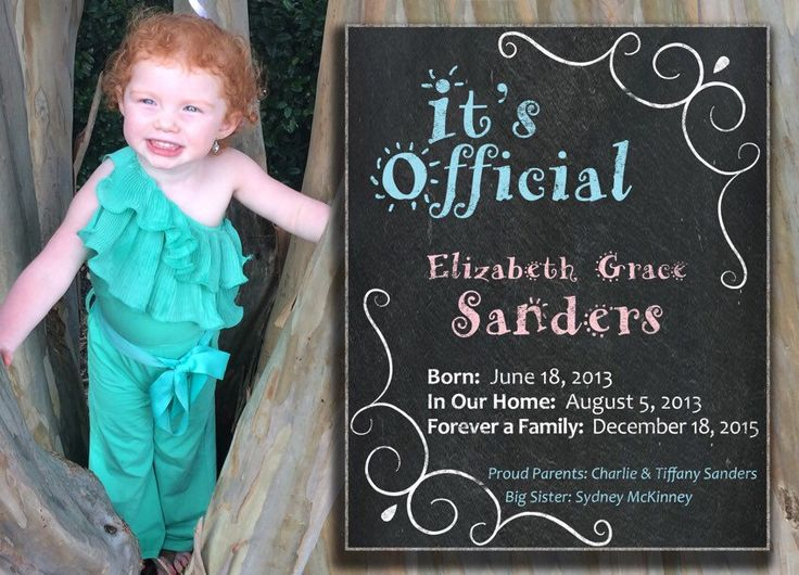 Adoption Announcement 7x5 by AllyMacDesigns on Etsy https://www.etsy.com/listing/386248674/adoption-announcement-7x5