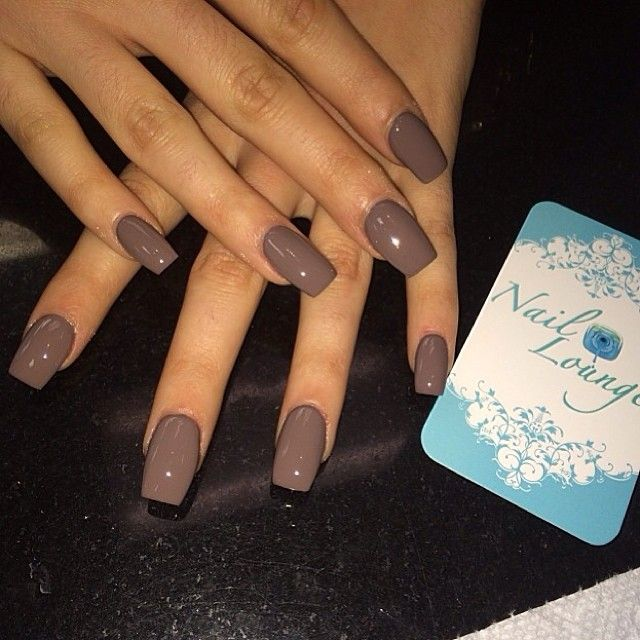 Brown nails...love the color and shape