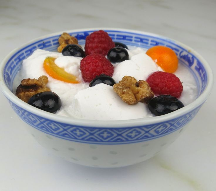 Homemade Coconut Yogurt is Dairy Free – Hooray! - - Here's a foolproof recipe for thick, luscious coconut yogurt. This recipe has a rich flavor and dense texture, almost like Greek yogurt. It's Paleo, it's vegan, it tastes great with fruit, and is easy to digest. Coconut yogurt is naturally sweeter than milk yogurt, so it doesn't need sweetener. You can add a bit of raw honey if you like.