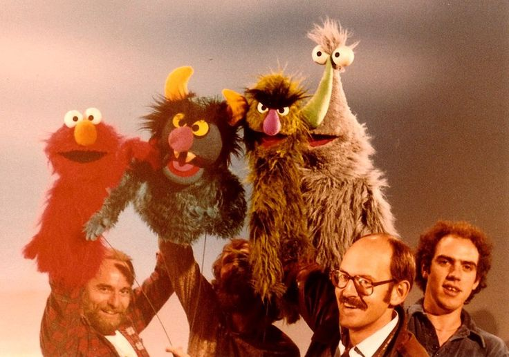 Monsters and Muppeteers. Jerry Nelson, Jim Henson, Frank Oz, Richard Hunt