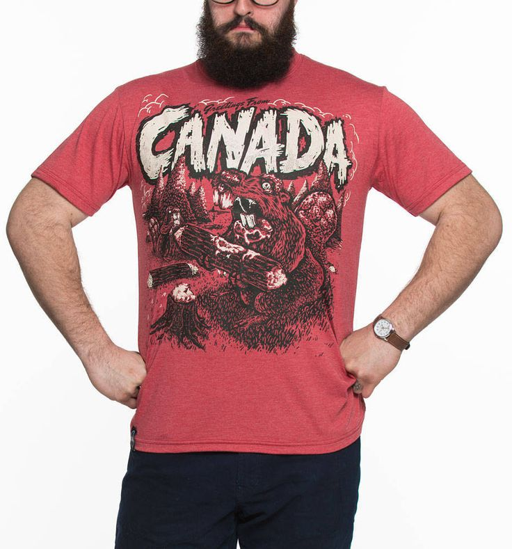Greetings From Canada - Zombie Beaver T-shirt Tri-Blend bamboo - Made in Canada