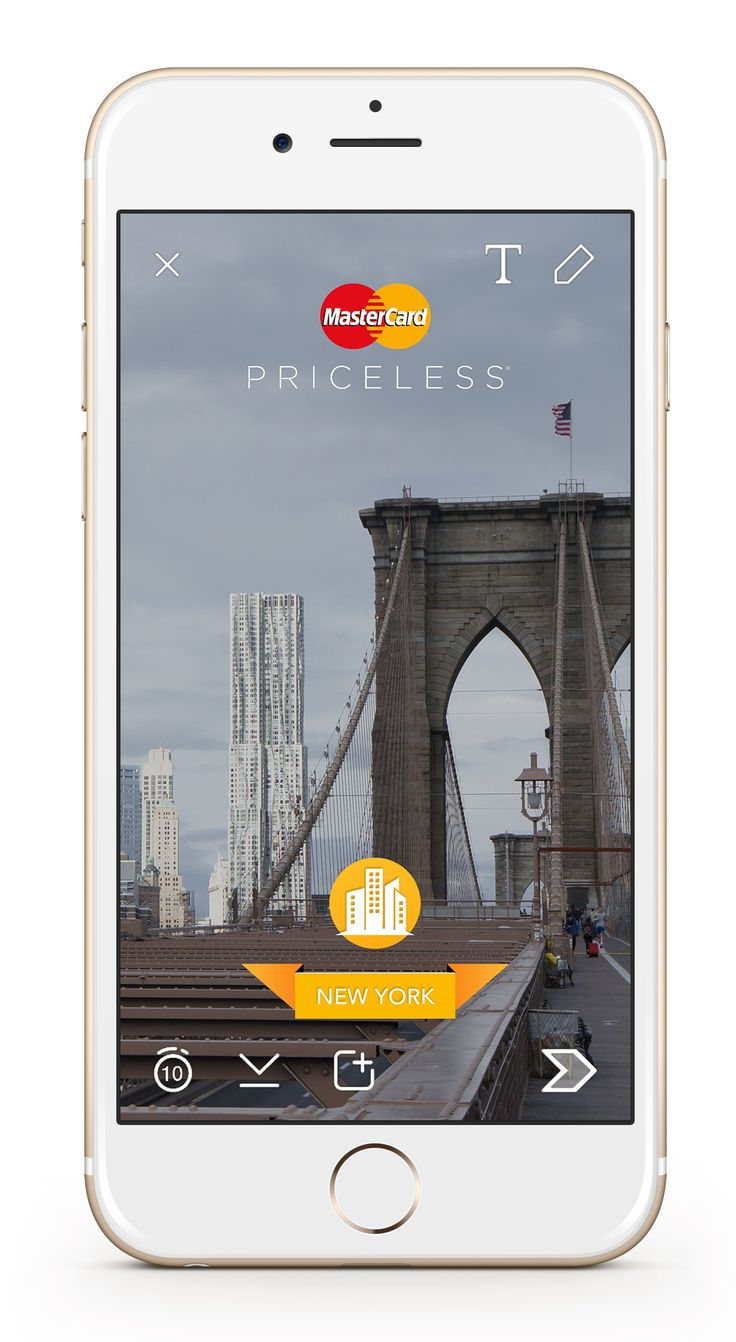 "Does the branded geofilter tie into the surroundings where it's activated? Snapchat has invested a ton of time enabling these geofilters, and collecting location filters is almost like a sport now (Pokemon, again).  Maybe a brand like MasterCard, which promotes its ""Priceless Cities"" concept on multiple social channels, might tie a branded geofilter into particular locations around NYC for fans to Snap them and share with friends."